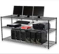 Wire Shelving Computer LAN Workstation