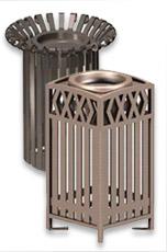 Metal Slatted Cigarette Urns