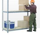 7'H Boltless Wide Span Storage Rack With Wood Deck