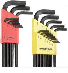 Bondhus 22PC. SAE/Metric Hex Key Set W/FREE 8PC. Torx Fold-Up