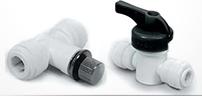 Push-In Plastic Tubing Valves