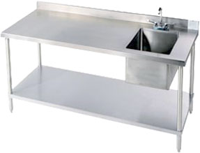 Stainless Steel Workbench with Sink