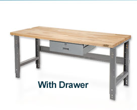 60 X 30 Maple Square Edge Work Bench- Adjustable Height