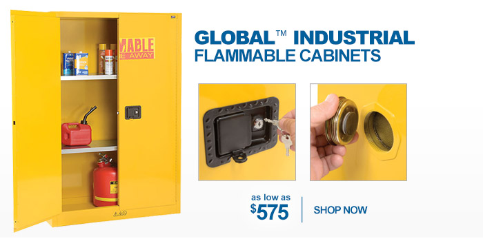 Global Industrial™ Flammable Cabinets - as low as $575