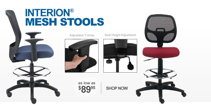 Interion® Mesh Stools - as low as $89.95
