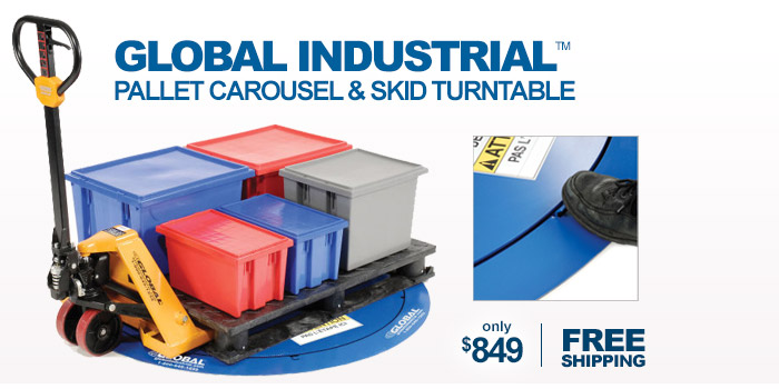 Global Industrial™ Pallet Carousel & Skid Turntable - only $849