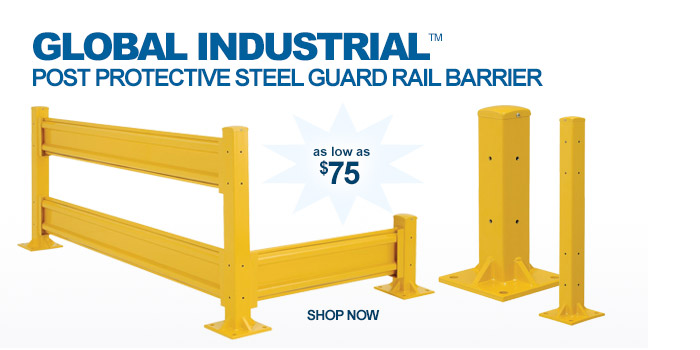 Global Industrial™ Post Protective Steel Guard Rail Barrier - as low as $75