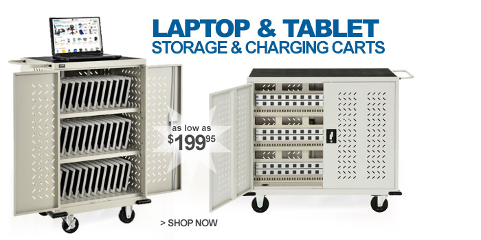 Storage & Charging Carts for Laptop, Chromebooks™ & iPads® - as low as $199.95
