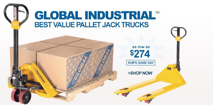 Global Industrial™ Best Value Pallet Jack Trucks - as low as $274