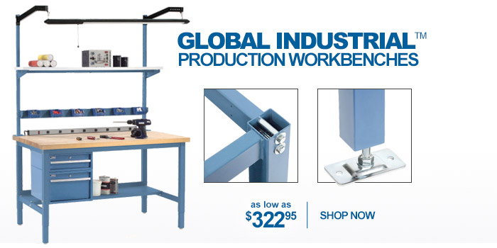 Global Industrial™ Heavy Duty Height Adjustable Production Workbenches - as low as $322.95