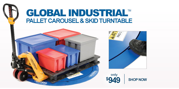 Global Industrial™ Pallet Carousel & Skid Turntable - only $949
