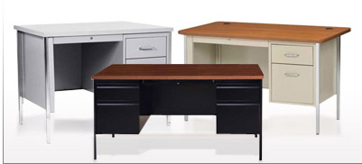 Global - Pedestal Steel Desk