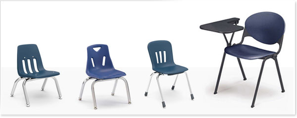 school stack chairs