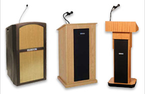 Lecterns with Sound Options