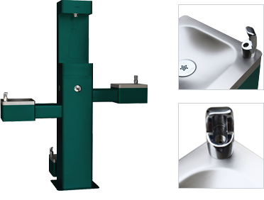 Global Industrial Outdoor Bottle Filling Stations