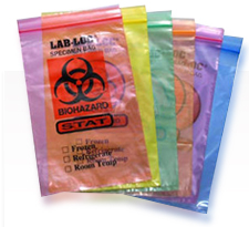 3-Wall Style Lab Specimen Transfer Bag