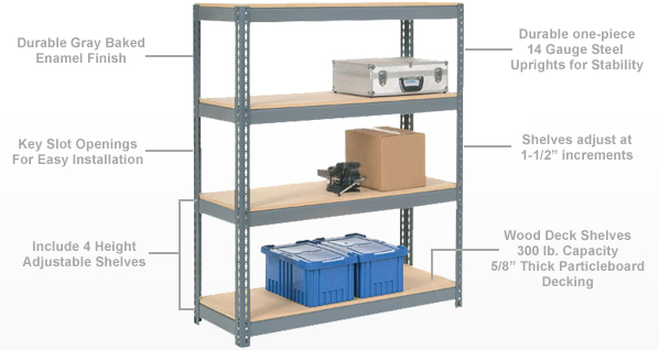 Global IndustrialTM  Boltless Shelving