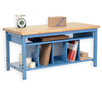Packing Workbench with Lower Shelf Kit