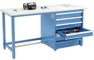 Industrial Modular Drawer Workbenches