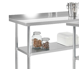 "2"" Backsplash Stainless Steel Workbench"
