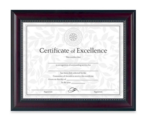 Certificates Posters Frames Signs