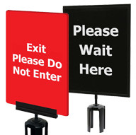 Crowd Control Signs & Posts
